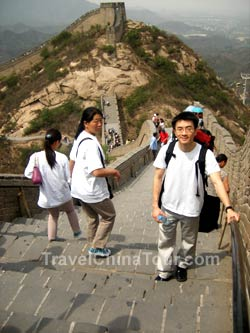 Jim at badaling great wall of china