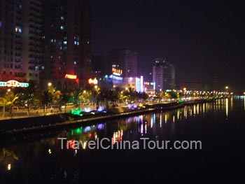 Sanya China night scene