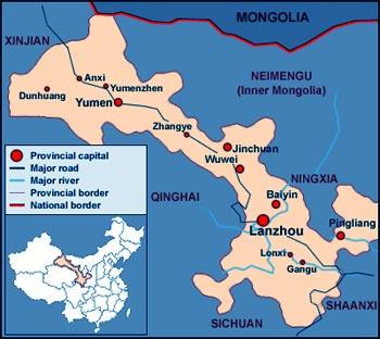 Gansu China Map.Gansu Province Travel Guide Gansu Province China Tour